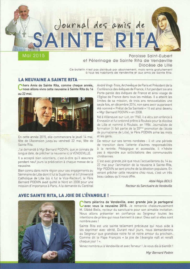 Sainte rita  Vendeville Infos